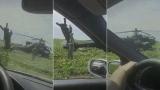 Un elicopter al Armatei SUA a aterizat pe un teren agricol din Constanţa
