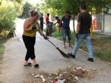 Partida Romilor Pro –Europa sucursala Constanta a curățat campusul Henri Coandă