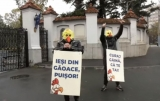 "www.ziarulatak.ro Au iesit ""Gainile""  sa protesteze la Cotroceni"