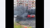 Incendiu într-o intersecție aglomerată din Capitală