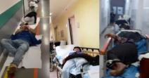 Pacienți infectați cu SARS-CoV-2, lăsați pe holurile spitalului din cauza locurilor insuficiente la ATI