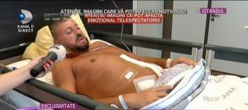 """Imagini șocante cu Cătălin Botezatu pe patul de spital! Cum arată operația de pe burtă: """"Am trecut pe lângă moarte, am oprit cancerul"""""""
