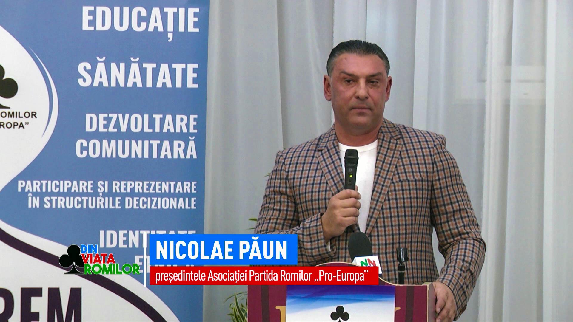 www.ziarulatak.ro Romii din Romania strang randurile. Mesajul presedintelui Partidei Romilor Pro –Europa, Nicolae Paun  la inceput de an